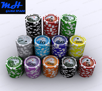11.5g Two-Tone PS Sticker Poker Chips/Casino Poker Chip