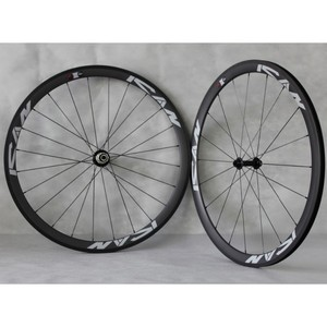 ICANBIKES 700c road bike wheelset 38mm clincher full carbon bicycle wheels carbon clincher wheelset