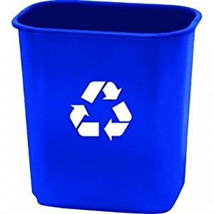 United Solutions EcoSense WB0070 Blue Thirteen Quart Recycling Indoor Wastebasket - 13QT Recycling Trash Can/Bin in Blue by United Solutions