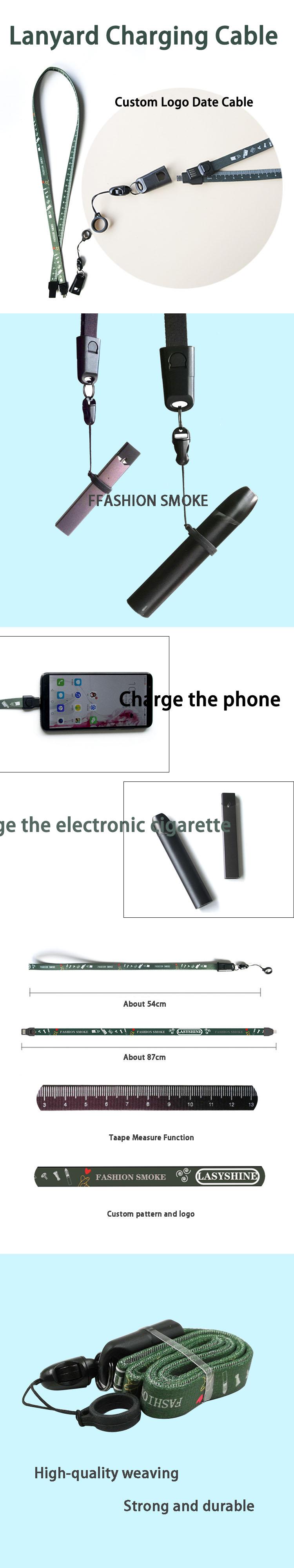 Yeni Ürün yenilik 2019 Toptan Özel Baskılı Çoklu Veri Hattı Şarj Kordon USB kablosu SMOK