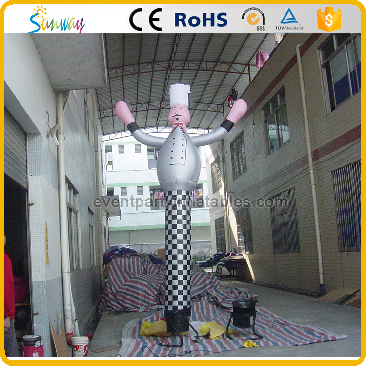 Inflatable Chef Sky Dancer Chef Model for Caterer Advertising
