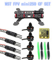 WST DIY 3K Carbon Fiber Mini Q250 FPV Drones Quadcopter Frame Kit+100% Original