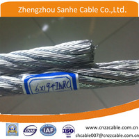 galvanized Stainless 304/316 Aircraft Steel Wire Rope cable 7x7, 7x19, (5/16, 3/8)