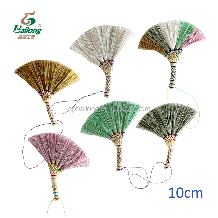 Ready to ship handmade colourful office gift birthday for girl friend set 3 home decor decorative crafts grass broom