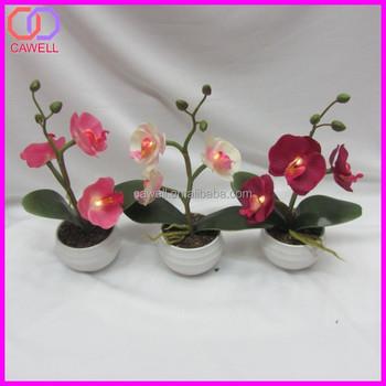 2015 New Artifiical Orchid Led Flower Vase Light Buy Led Flower