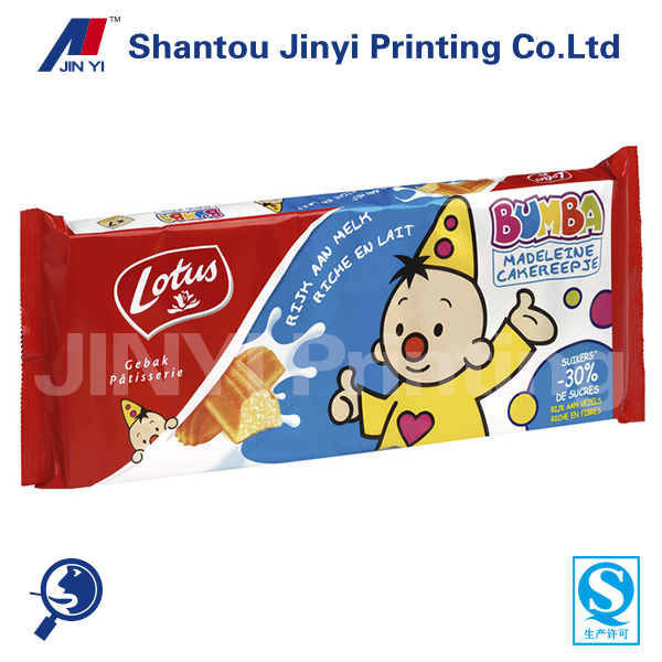 Plastic bag supplier biscuit bag material for cookies packaging