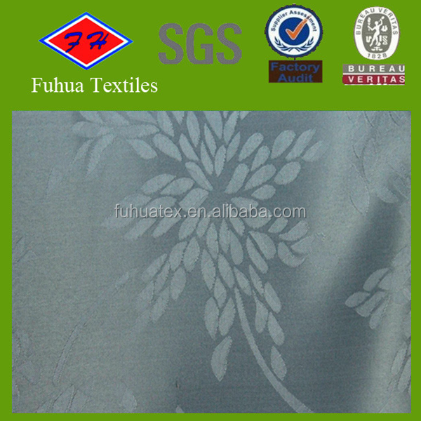 100% polyester top grade hotel used fabric jacquard designs on table cloth