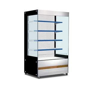 Commercial Supermarket Open Air Beverage Showcase Fridge Refrigerator Front Display Cooler