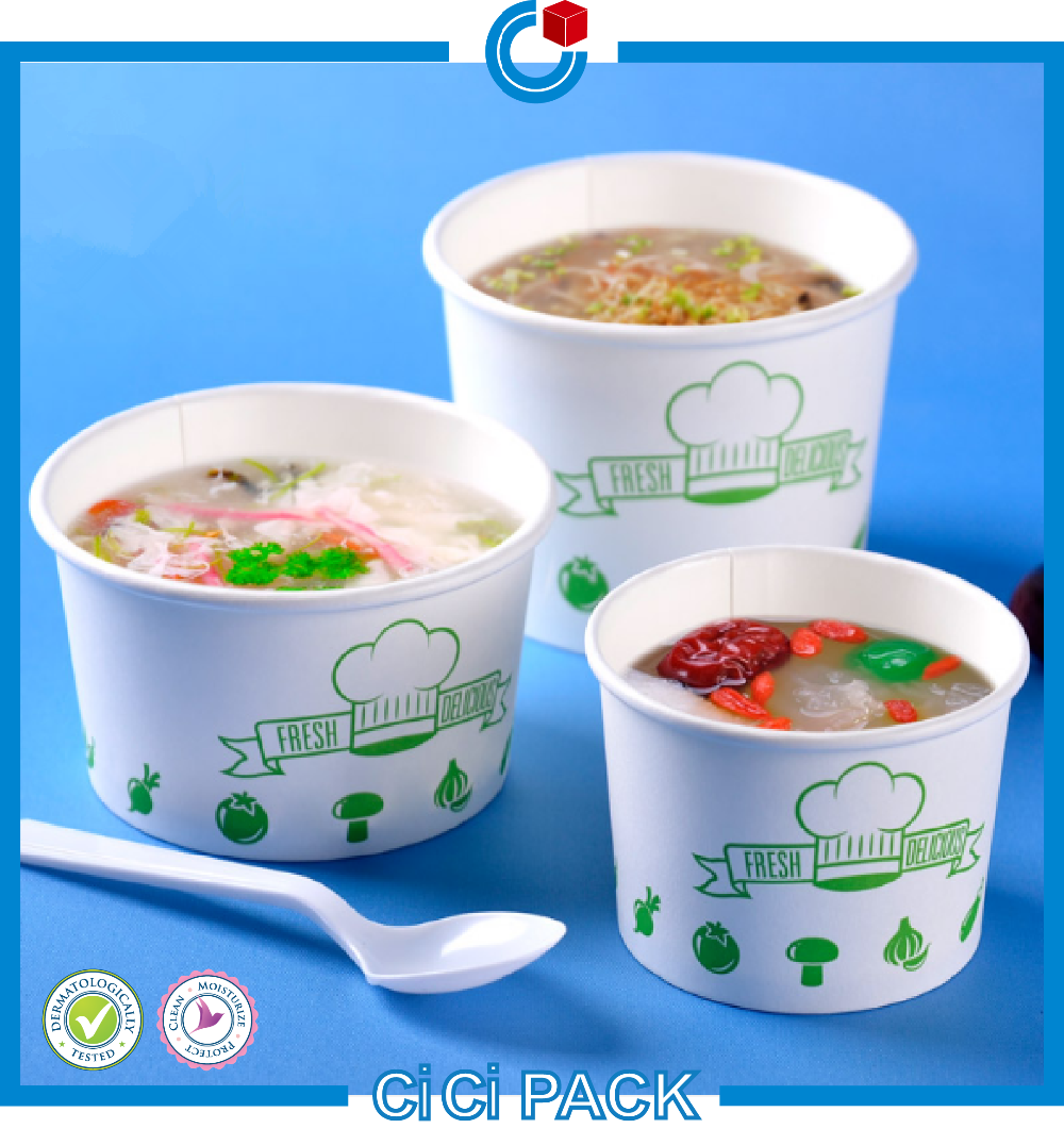 China Manufacturer Cheap Price Disposable Small Paper Soup Bowl ...