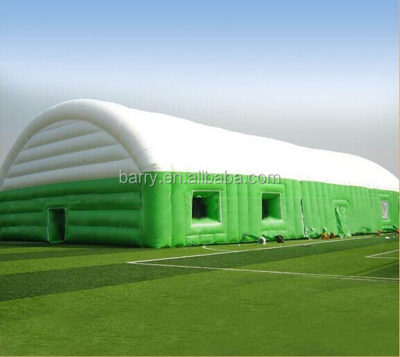 Giant inflatable warehouse tent inflatable dome tent for sports with windows and skylight