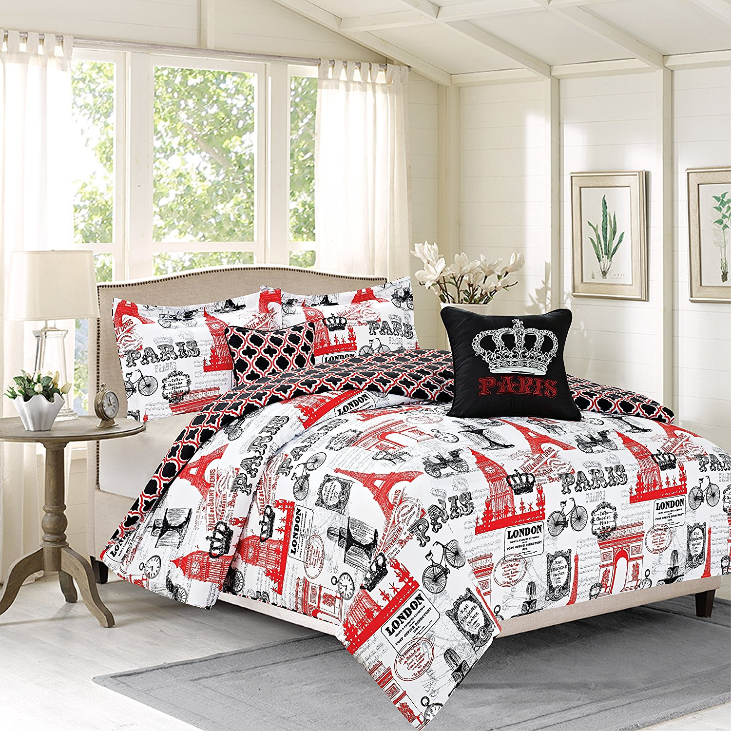 Cheap Eiffel Tower Bedding And forter Set find Eiffel Tower