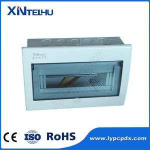 HOT sales 16 19 way single phase copper bus bar electrical metal distribution box for MCB installation