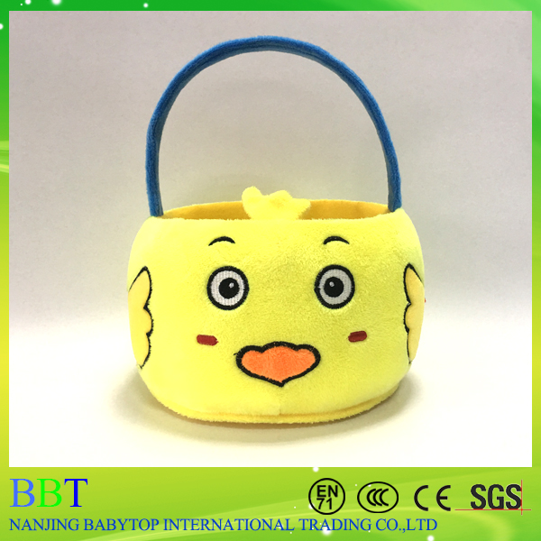 wholesale plush kids toys yellow duck easter basket
