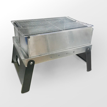 Folding Portable Stainless Steel Outdoor BBQ Grill Heavy Duty Rustproof  Foldable Legs Stand Rectangle Barbecue Charcoal