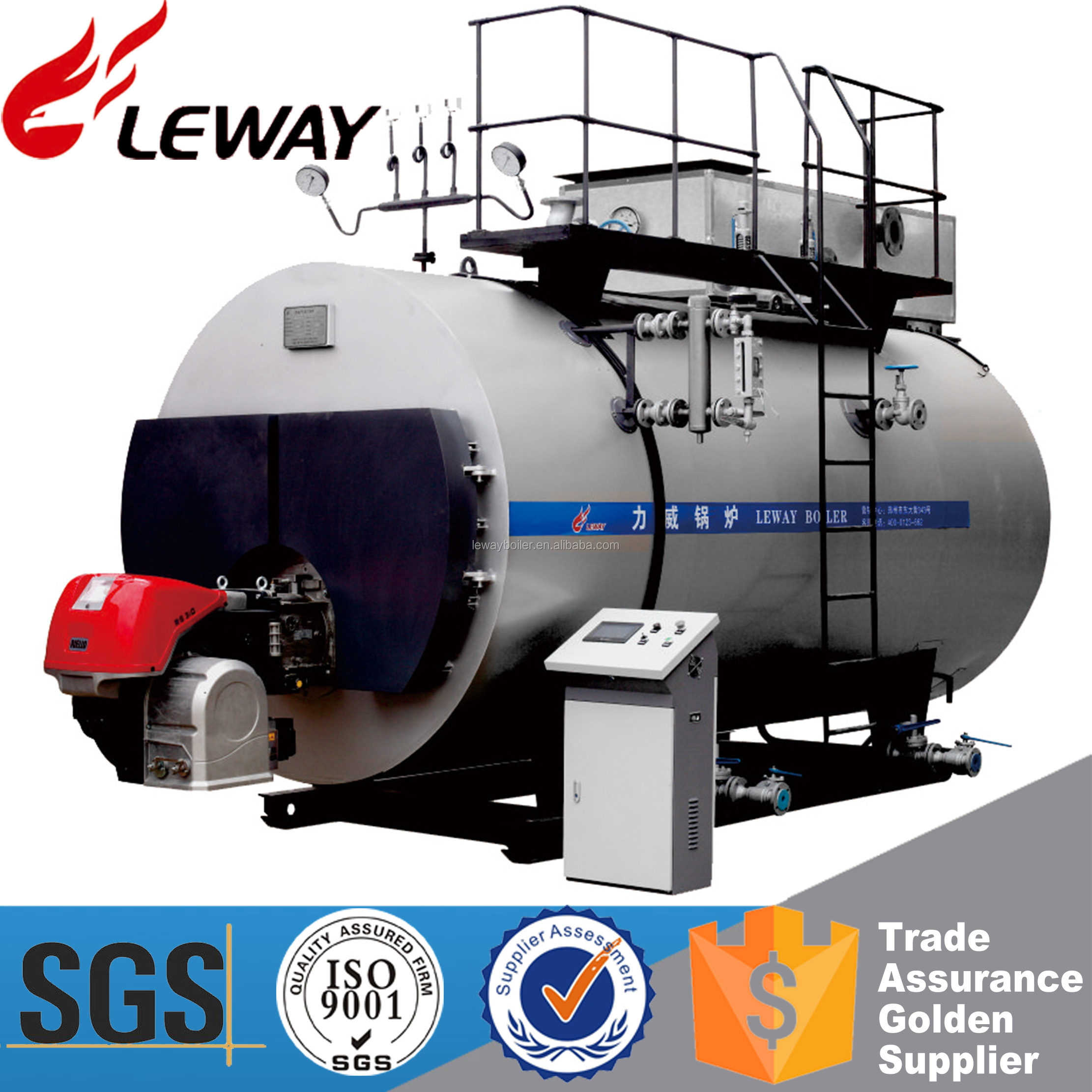 Low Nitrogen Energy Saving!!! 1Ton Condensing Oil Fired Steam Boiler With Long-term Technical Support