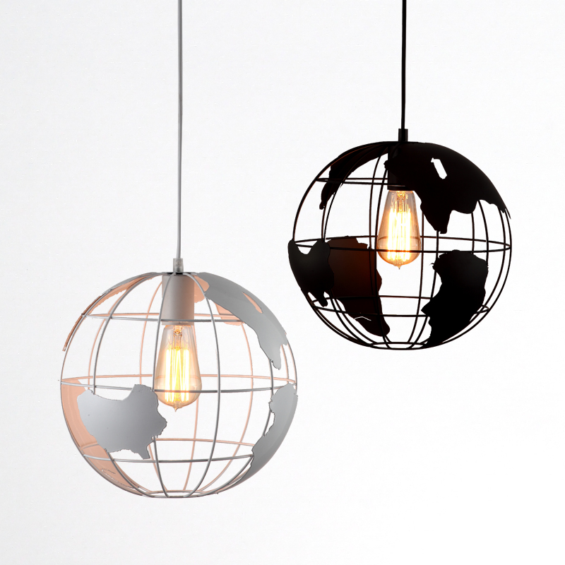 Personality world map globe pendant light ball shade fixture round personality world map globe pendant light ball shade fixture round single lamp buy globe pendant lightpendant light shadependant light fixtures product gumiabroncs Images