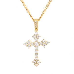 Amazon new hip hop men's claws cross zircon chain pendant