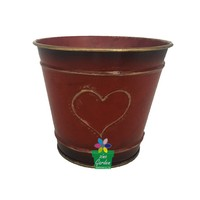American Style factory price decoration metal iron flower floral buckets vase for flower/green planter used