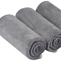 Microfiber Auto Detailing Towels Dual Weave Car Cleaning Towels Ultra Soft Professional Car Wash Drying Towels