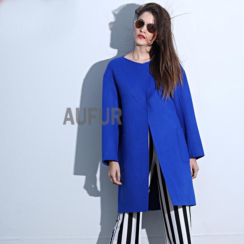 Blue Wool Coats Fashion Women S Coat 2017