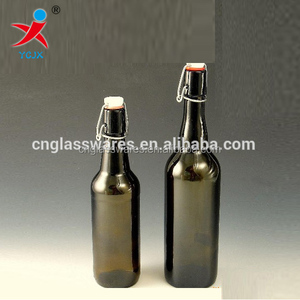 Cheap bulk wine amber glass bottle