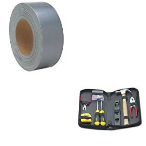 KITBOS92680NSN1032254 - Value Kit - NIB - NISH 5640001032254 Silver Duct Tape (NSN1032254) and Stanley General Repair Tool Kit in Water-Resistant Black Zippered Case (BOS92680)