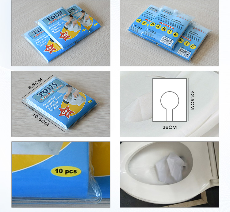 Bulk Pack 1/16 Fold disposable paper toilet seat cover