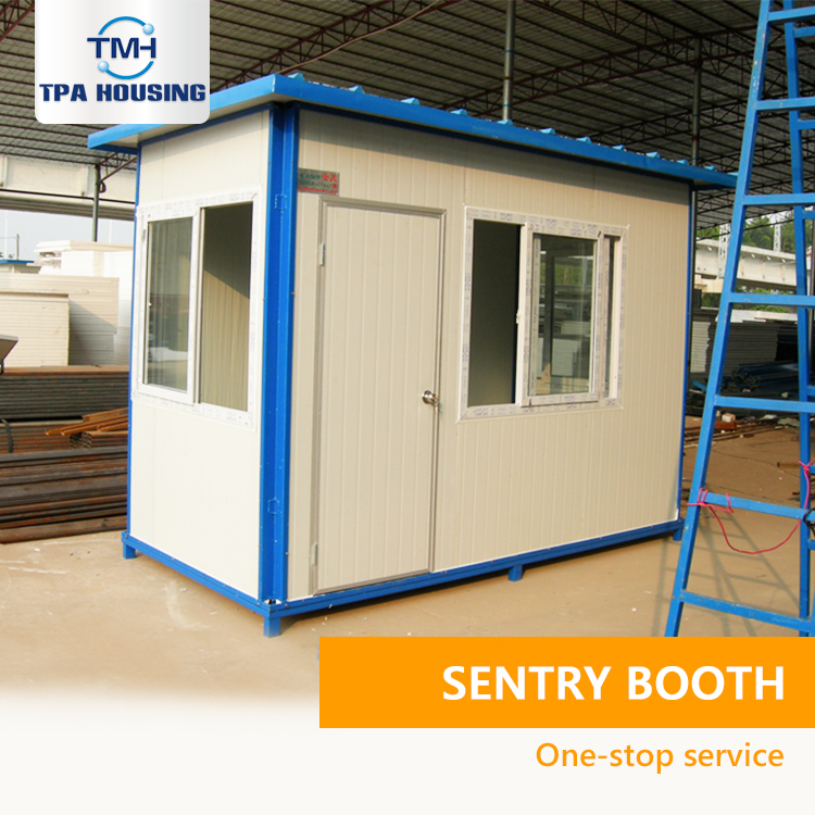 Sales Promotion Portable Security Booth Qatar Prefabricated Security Guard House Cabin