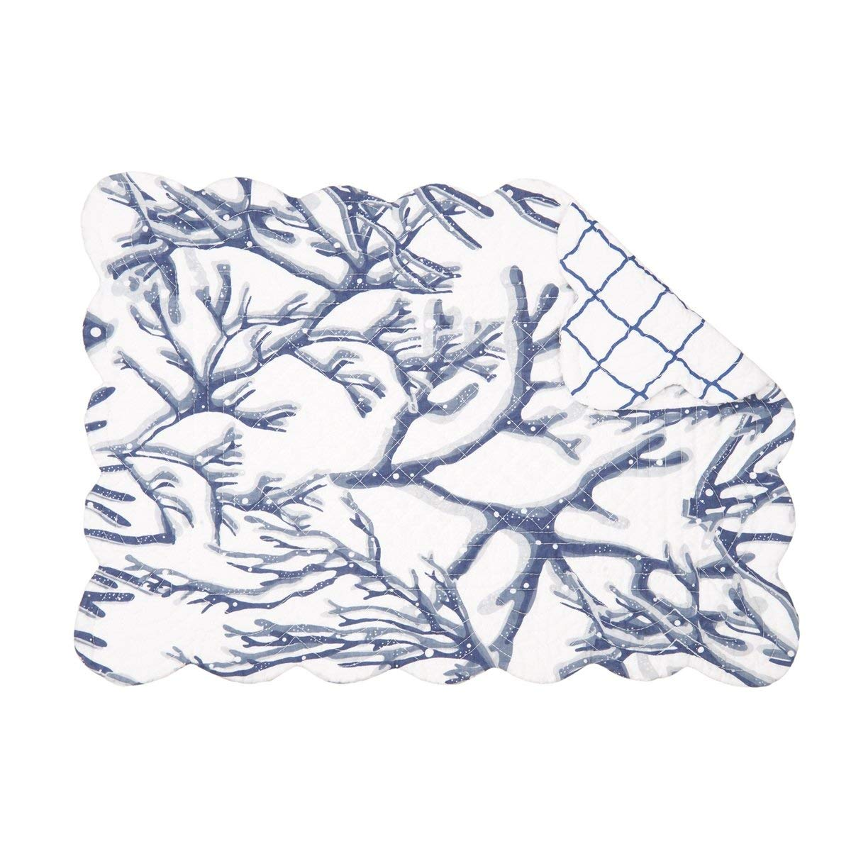 C&F Home Set of 4 Pcs, 13x19 Quilted Placemat,Oceanaire