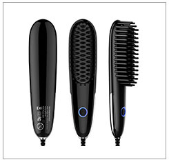 High Quality Electric Mini Beard Straightener Whit LED display
