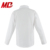 White Long Sleeve Shirt with Lotus Front Panel for Girl