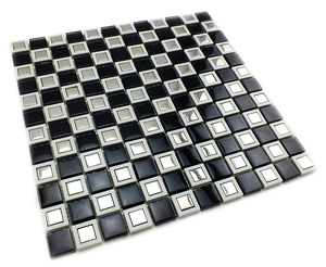 Promotion custom decorative materials 300*300 mm mini-size square mirror mosaic glass tile