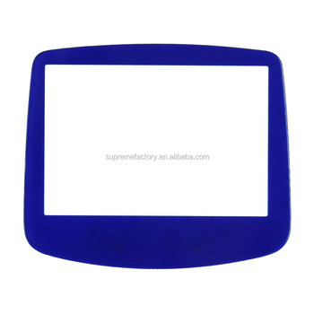 Replacement Clear Screen Plastic for Nintendo GameBoy Advance GBA Blue