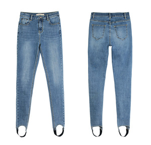 Wholesale Hot Selling Cheap Girl Lady Fit Women Pants Footed Jean Pants