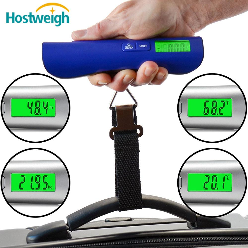 50kg/110lbs portable Electronic luggage belt Scale with 1m Soft Measure Tape