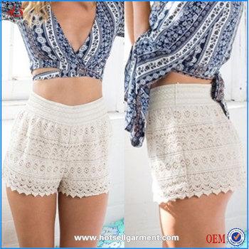 Wholesale Booty Shorts Women White Lace Shorts Fashion Girl Shorts ...
