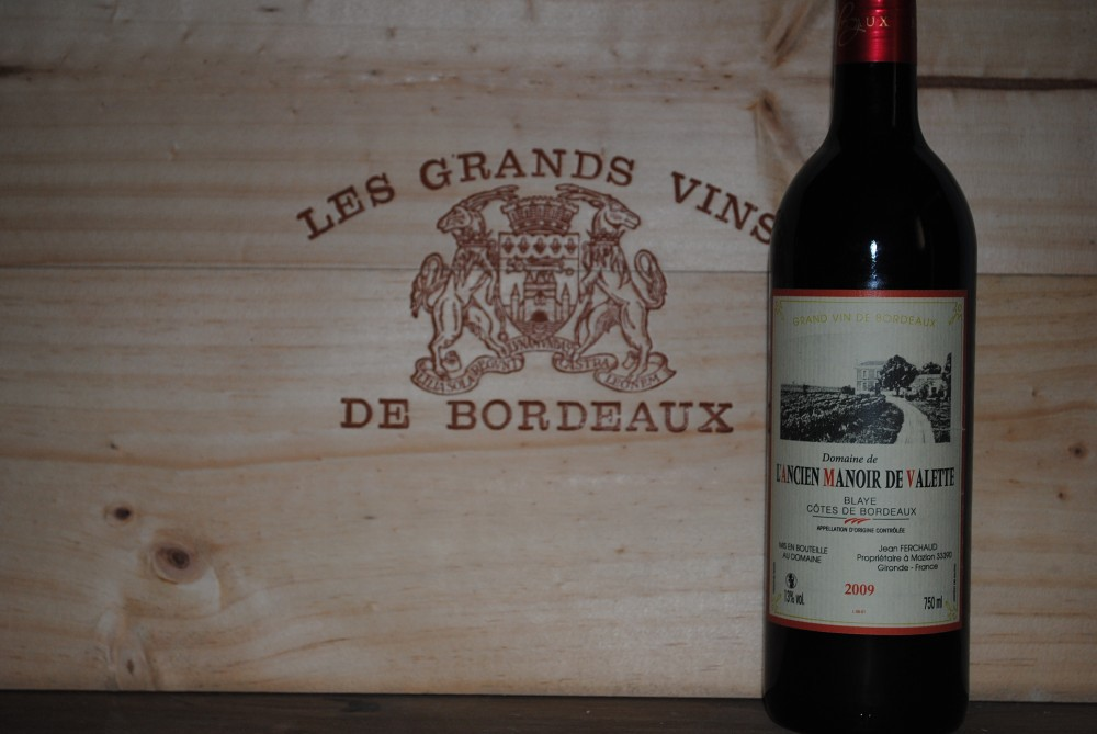 RED wine of BORDEAUX FRANCE