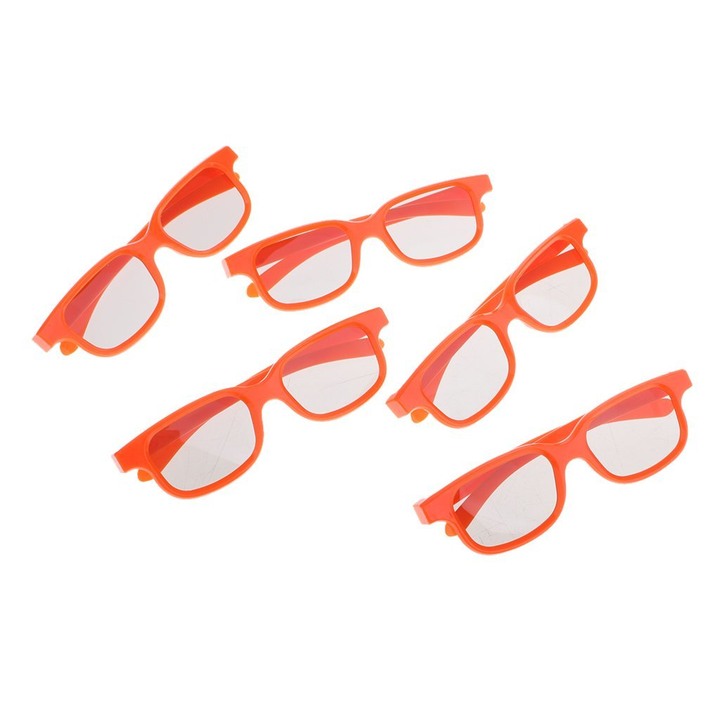 98f20d1a6f Get Quotations · Homyl 5 Pack CINEMA 3D GLASSES For 3D TVs – Child Sized  Passive Circular Polarized 3D