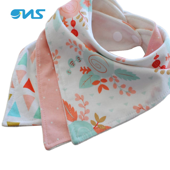 Private Label Baby Bandana Teething Organic Cotton Baby Bibs For