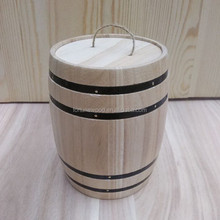light weight paulownia wood barrel small size