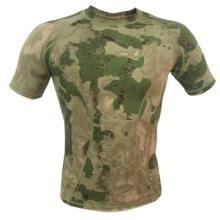 WoSporT Military Tactical Camo Short sleeve T-shirt for Hunting Army Combat Airsoft CS Climbing Hiking Camping Outdoor Sports