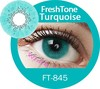 FreshTone fancy and adorable super naturals turquoise cosmetic color contact korean lens