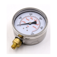 High quality manometer air gas water test pressure gauge 0-10bar