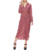Fashion 2019 Summer Women Casual Dress Chiffon Dresses Floral Long Sleeves Belted Maxi Shirt Dresses