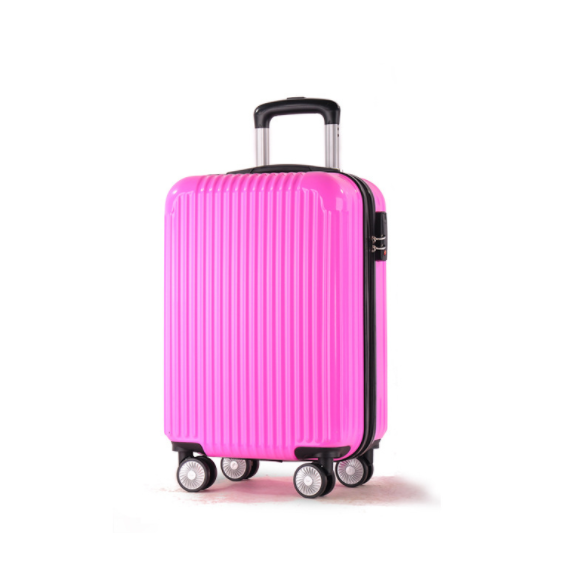 "ABS + PC 18"" 20"" 26"" Women Pink Travel Luggage Universal Wheel Trolley Bags"