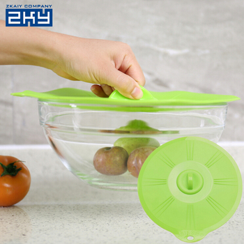 Silicone Cooking Suction Pot Bowl Lid Silicone Stretch Lids Silicone Spill Stopper Lid Cover