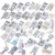 42 PCS Domestic Sewing Machine Foot Presser Feet Kit Set, 32PCS Presser Foot Feet Kit