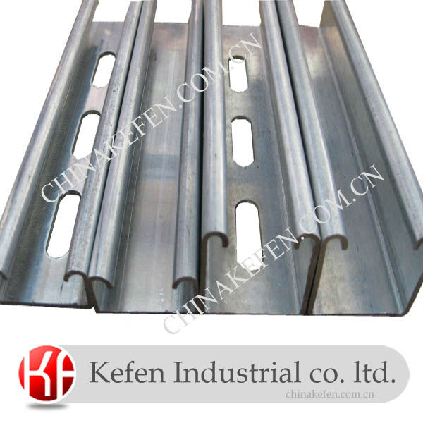 Galvanized Strut Slotted Steel U Channel Electrical C Uni
