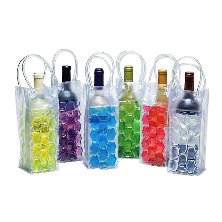 Custom Printing Pvc Eva Wine Cooler Gel Bag With Hander Product On