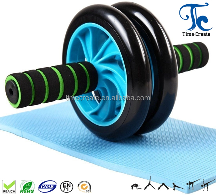 wholesale ab roller muscle training with knee pad ab wheel